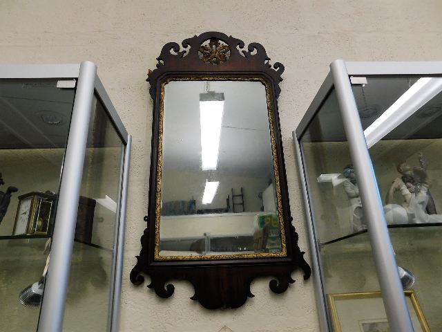 Lot 88 - An 18thC. George III mirror, some faults to decor