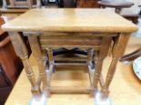 Lot 54 - A nest of two oak tables