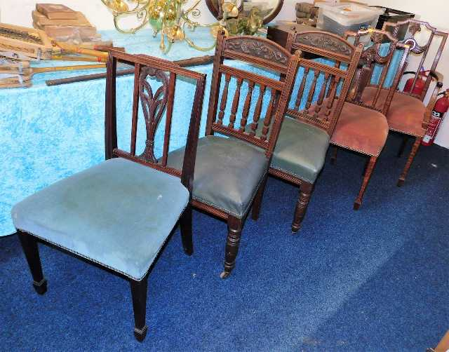 Lot 75 - Five Peter Blomfield upholstered dining chairs