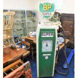 Lot 97 - A vintage reproduction BP Super petrol pump with g
