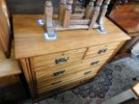 Lot 65 - An Edwardian satinwood chest of drawers