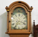 Lot 17 - A c.1800 pine cased longcase clock, Aberdeen maker