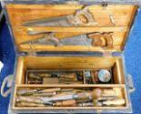 Lot 119 - A boxed quantity of carpenters tools