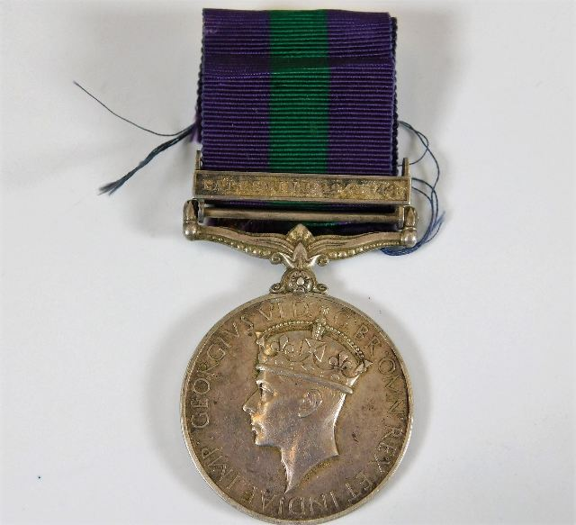 Lot 767 - A post WW2 Palestine 1945-48 medal awarded to 1417