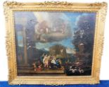 Lot 80 - A very large 18thC. French rococo oil on canvas de
