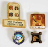 Lot 781 - An enamel Dalmatian Club badge twinned with three
