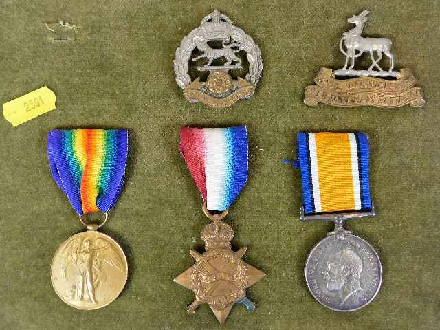 Lot 114 - A WW1 medal set awarded to J-22478 W. H. Travis A.