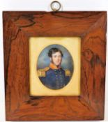 Lot 64 - Mounted in rosewood frame, an early 19thC. Thomas