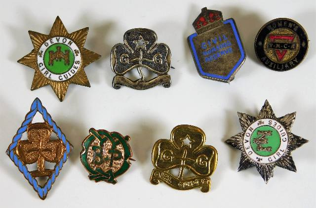 Lot 780 - A Civil Nursing Reserve badge twinned with other b