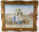 Lot 78 - A very high quality 18thC. watercolour in the styl