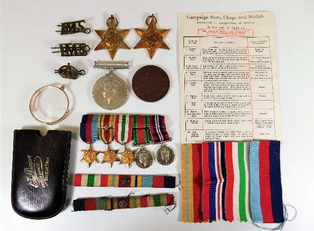 Lot 766 - A part WW2 medal set, unappointed & from same fami