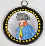 Lot 107 - A c.1810 enamelled pendant featuring an image of N