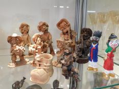 A small quantity of terracotta figures twinned wit