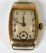 A yellow metal cased watch