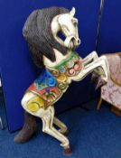 A large painted carved fairground style horse appr