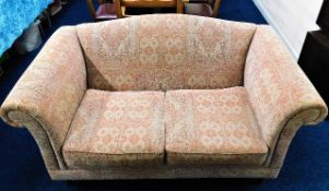 A good quality upholstered two seater jacquard sof