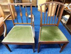 Two c.1800 chairs, one inlaid