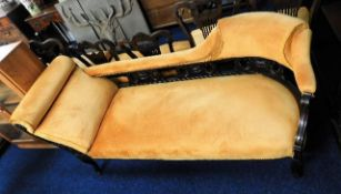 An upholstered chaise longue 69in long