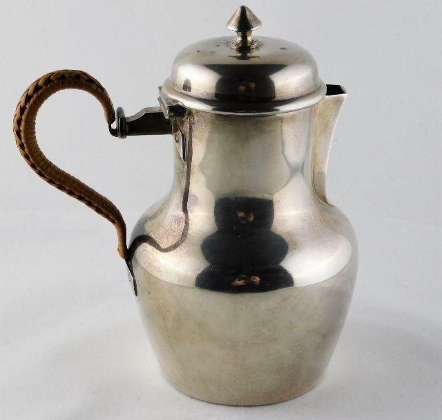 Lot 258 - A French 0.950 silver hot chocolate pot approx. 18