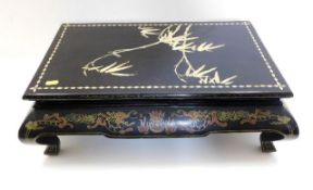 A Chinese lacquerware opium table 23in wide x 15in