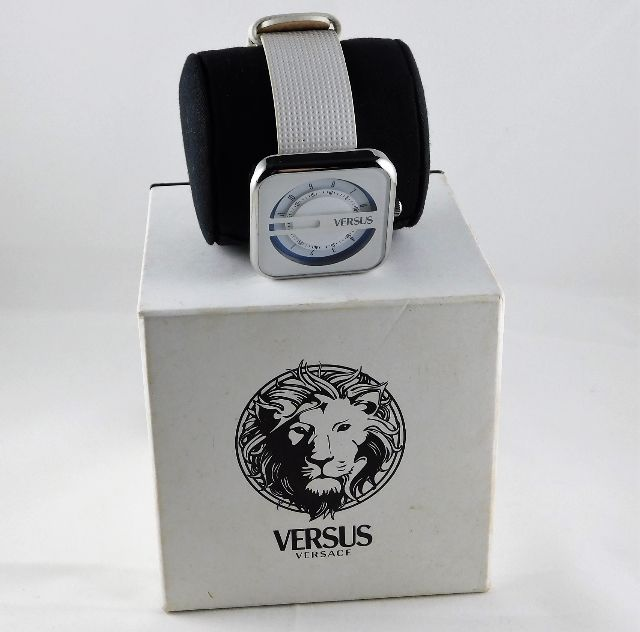 Lot 281 - A Versace Versus wrist watch with box