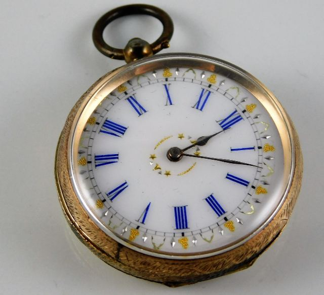 Lot 287 - A 9ct gold cased pocket watch a/f 33.8g inclusive