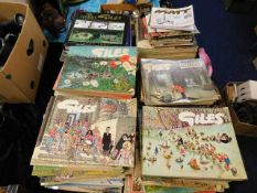 A large quantity of Giles books including 1950's