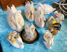 A small quantity of model swans