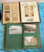 A Victorian family photo album twinned with a smal