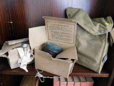 Three wartime gas masks