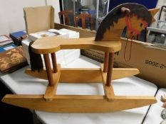 A small childs rocking horse