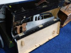 Two carpenters tool boxes with contents