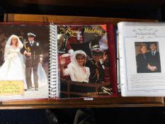 Two Royal wedding stamps album mostly depicting Sa