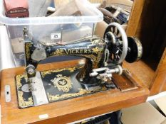 A Vickers sewing machine
