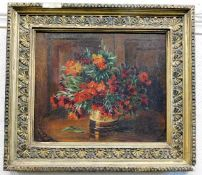 """An antique oil still life painting indistinctly signed """"G. D. Hoffman"""""""