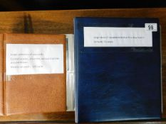 A postcard album twinned with a first day cover al