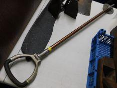A metal shooting stick