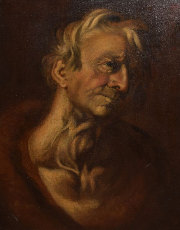 Lot 156 - 19th Century oil on canvas - Study of an elderly man, 47cm x 36cm Condition: