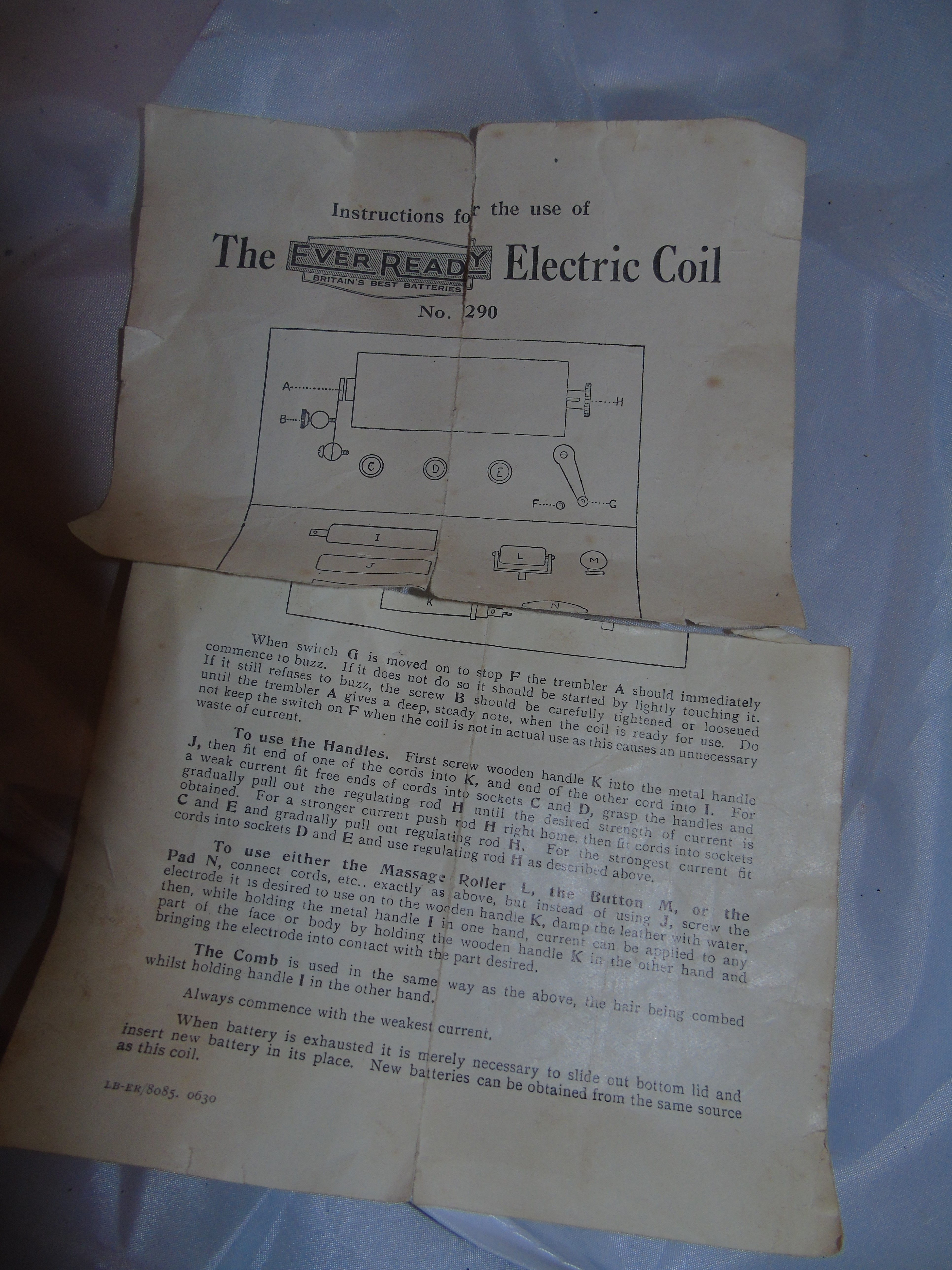 Lot 10 - THE EVER READY MASSAGE ELECTRIC COIL BOXED EST [£20-£40]