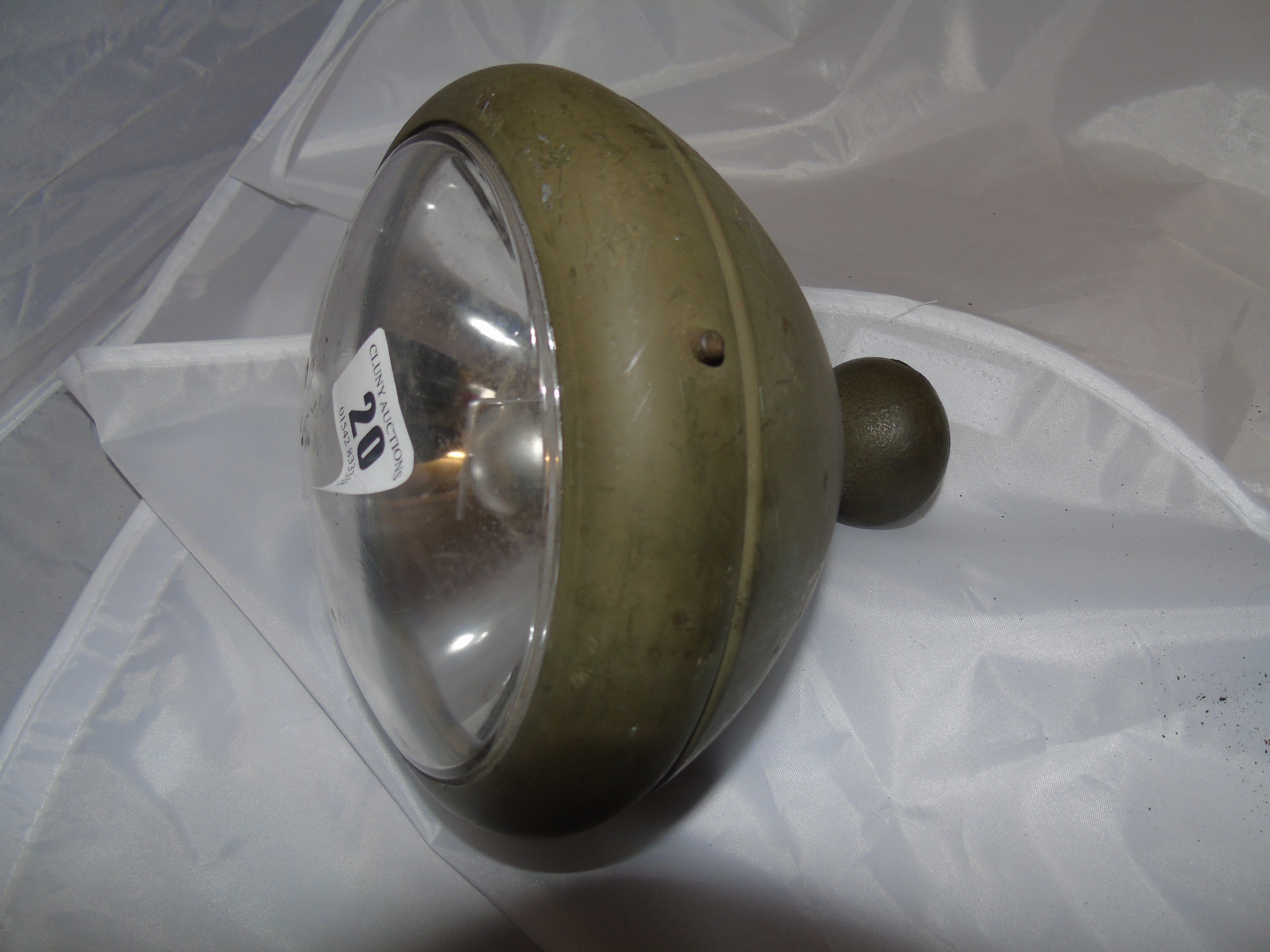 Lot 20 - MILITARY MAZDA SPOT & SIGNAL LAMP & ONE OTHER BRASS LAMP EST [£20-£40]