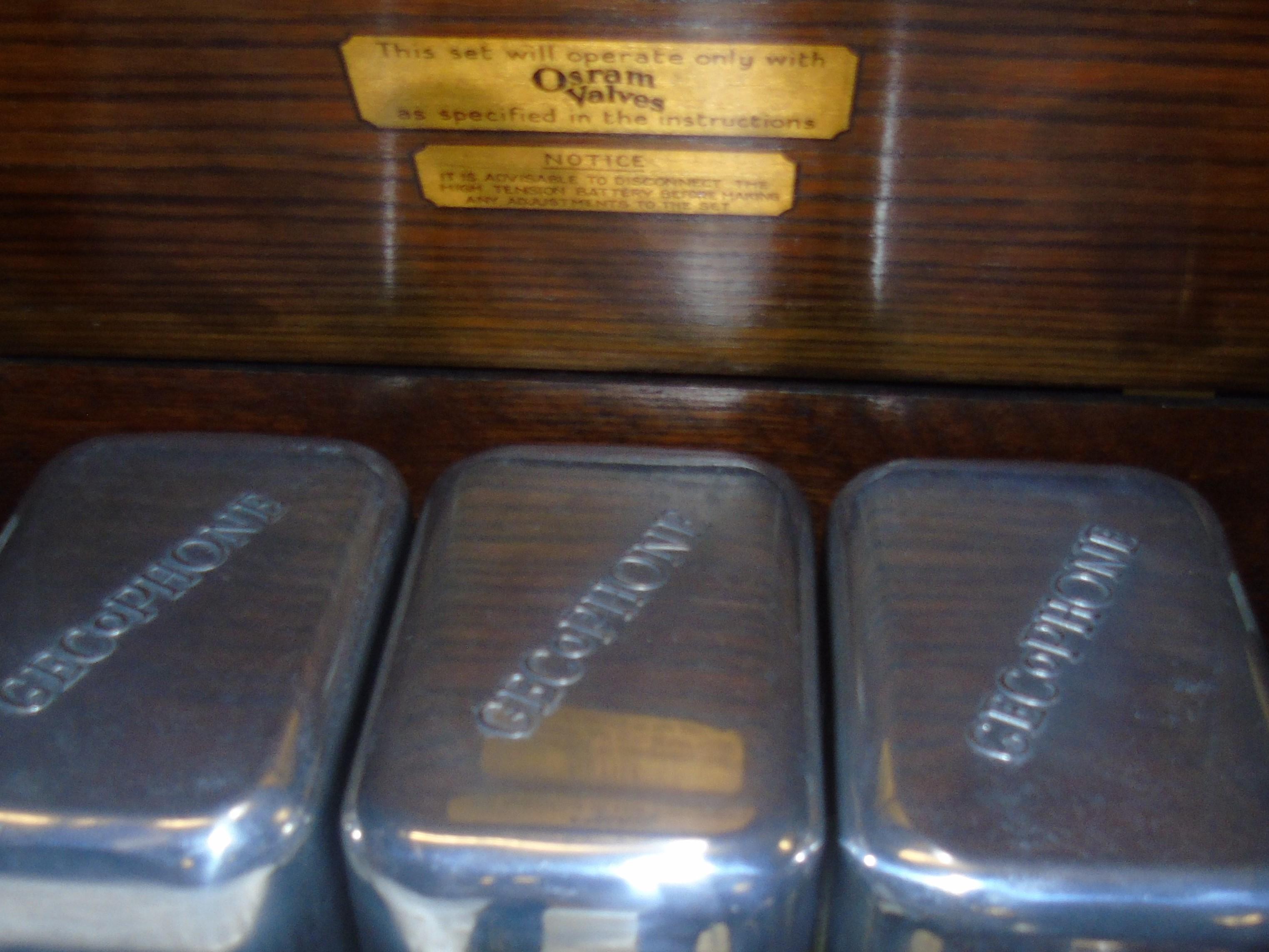 Lot 43 - OSRAM MUSIC 4 RADIO (GECoPHONE) CIRCA 1930 EST [£60-£80]