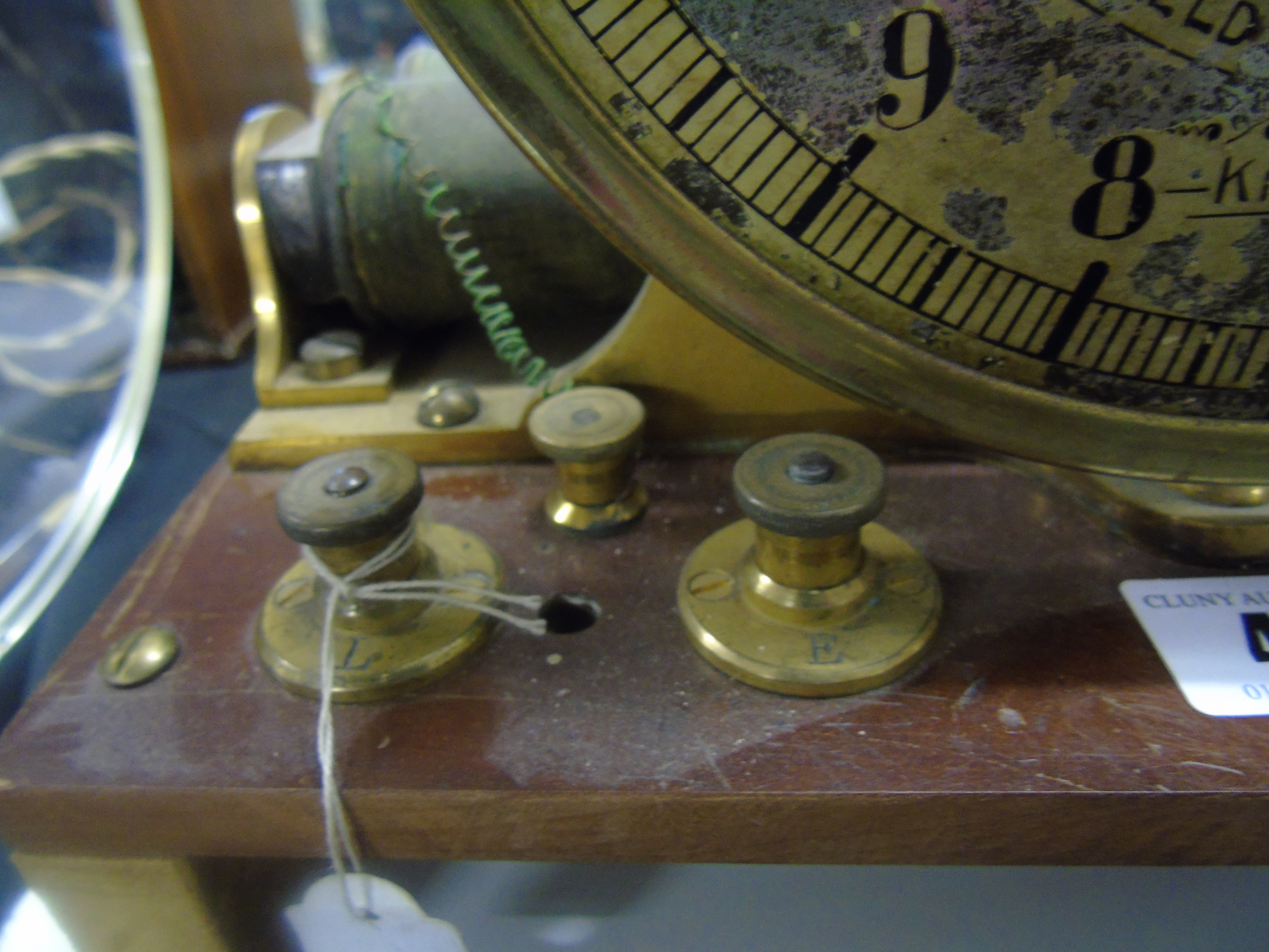 Lot 47 - ELECTRIC WATER LEVEL INDICATOR MADE BY GREENFIELD & KENNEDY KILMARNOCK CIRCA 1900 EST [£60-£120]