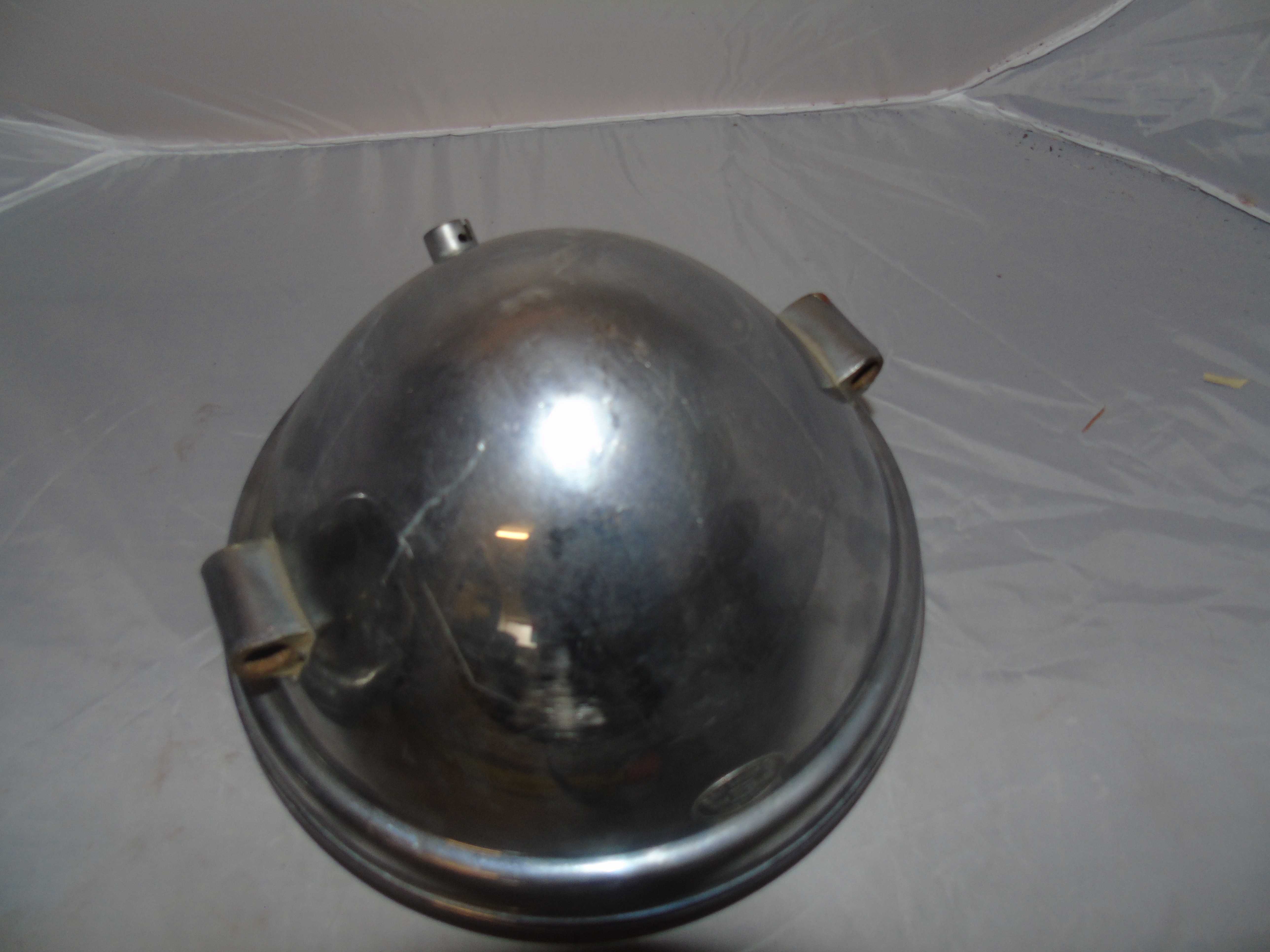 Lot 34 - EARLY 10 INS MOTOR CAR LAMP CHROME BODY BY S & M LAMP CO LOS ANGELES 2 OTHER 12 INS & OTHER PARTS