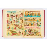 Lot 91 - Beano (1963) 1068-1119. Complete year in bound volume including the Super Beano Birthday Number (