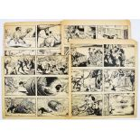 Lot 59 - Barney's Bear original 4 page artwork by George Ramsbottom for The Dandy (1950s). Barney's Bear