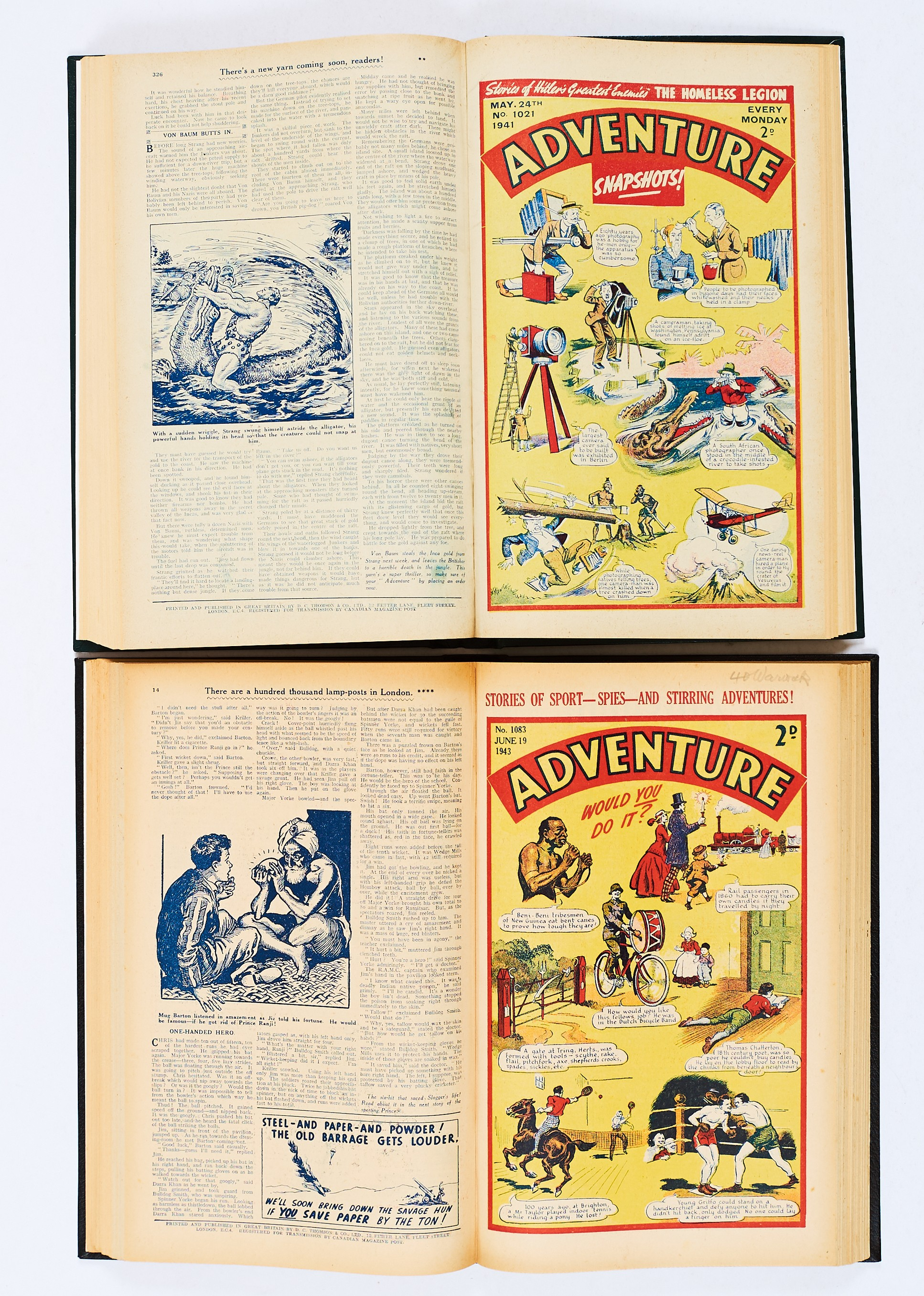 Lot 37 - Adventure (Jan-June 1941) 1001-1026. Half-year of propaganda war issues with Strang The Terrible