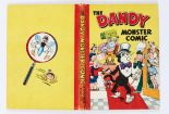 Lot 36 - Dandy Monster Comic (1949). Korky the Toff. Bright boards and spine. Light ink dedication, clean,
