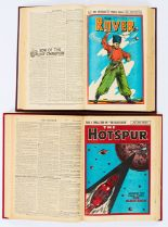 Lot 38 - Rover (1947) 1153-1190. Complete year in bound volume with Hotspur (1947) 561-597. Complete year