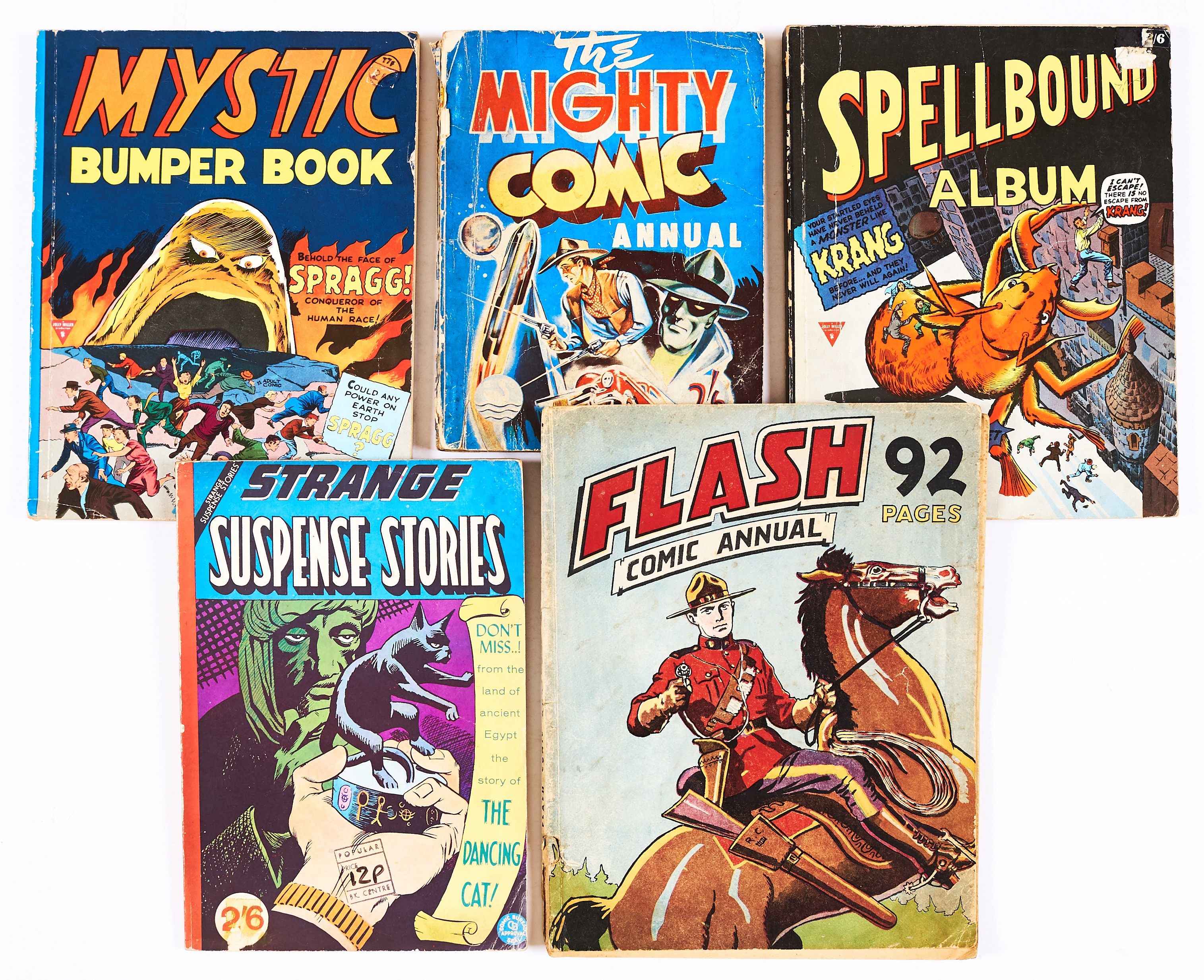 Lot 42 - Flash Comic Annual (1949 Amex) containing Flash comics 6-11. Scarce [vg-], Mighty Comic Annual (1948