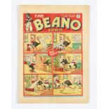 Beano No 7 (1938). Only a handful of copies known to exist. Bright cover, cream pages, slight